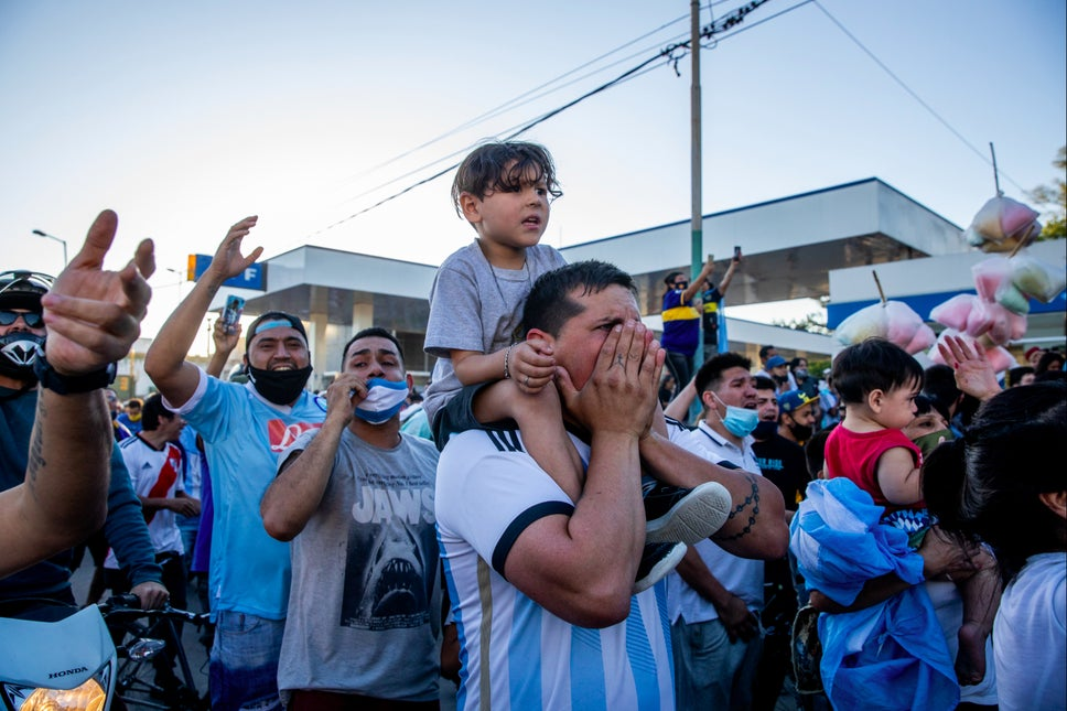 Argentine capital Buenos Aires pays their last Tribute to Football Legend Diego Maradona