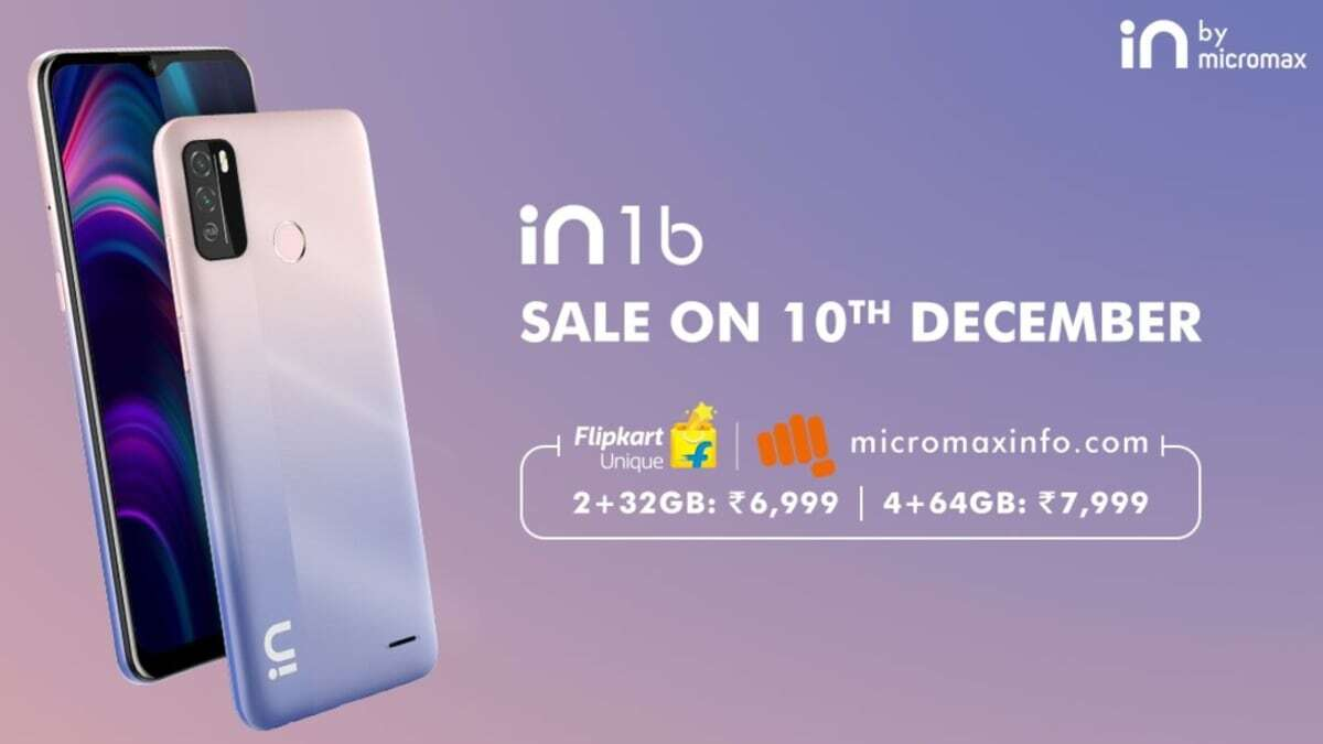 Micromax In 1b Is All Set For First Sale in India on December 10 via Flipkart